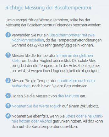 Temperaturmethode Schwanger Werden